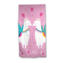 Beach towel Lama Pink