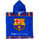 Großhandel Mäntel & Jacken: F.C. Barcelona Badeponcho mit kapuze velours