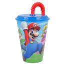 Super Mario Trinkbecher mit Strohhalm