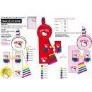 Hello Kitty öronkåpor med halsduk och handskar