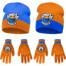 Hot wheels hats and gloves
