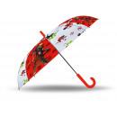 Mirakulösa nyckelpiga transparent auto paraply