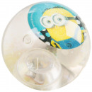 wholesale Puzzle: Minions Glitter bouncing ball with lights