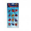 Spiderman 12 piece eraser set