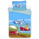 nagyker Ágyneműk és matracok: Paplanhuzat Repülőgép 100 x 135