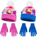 frozenDisney hatt med pompon och handskar