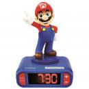 Super Mario ébresztőóra éjszakai fényvel és 3D han