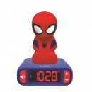 Spiderman Ébresztőóra éjszakai fényvel és 3D hango