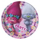 mayorista Articulos de fiesta: Trolls 8 Platos de cartón 20cm