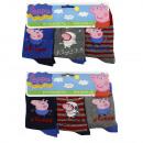 wholesale Socks and tights:Peppa Pig 3 pack socks