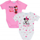 wholesale Licensed Products: Minnie Mouse 2 pack baby romper