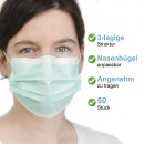 Protection bouche et nez simple lot de 50 bleu cla