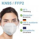 Masque de protection KN95, lot de 20 blanc