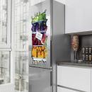 Sticker frigo 3D aliments plus sains 100x50cm
