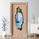 EASYmaxx door sticker 3D waterfalls 50x140cm