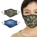 Ensemble de masques pour le visage Kids Camouflage