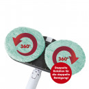 CLEANmaxx cordless spray mop 360 ° 3.7V turquoise