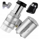 Lupa jubilerska mikroskop 60x 2 led profesjonalny