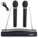 Kit karaoké, 2x microphone sans fil + station