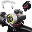 Luce anteriore per bicicletta USB 4 modalità