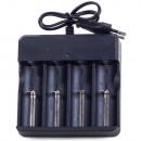 hurtownia Akcesoria samochodowe: Ładowarka do ogniw akumulatorów 4x 18650 led