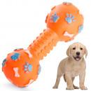 hurtownia Artykuly zoologiczne: Zabawka dla psa piszcząca gryzak guma kość hantle