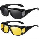 Großhandel KFZ-Zubehör: Vision Fahrerbrille für Nachtfahrten, 2 Stk