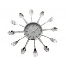 wholesale Clocks & Alarm Clocks: Kitchen clock with cutlery on the wall 3D