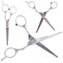 Einfache scharfe Friseurschere aus Stahl