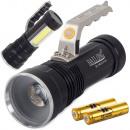 Bailong XM-L T6 COB LED Lampe de poche pour projec