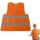 Gilet de sécurité réfléchissant orange L