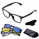 Okulary 3 w 1 na magnes słoneczne do jazdy