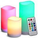 grossiste Electronique de divertissement: Bougies, bougies, bougie led télécommande rgb 3 ...