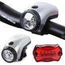Illuminazione per bicicletta 5 + 5 led anteriore b
