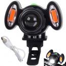 Luce anteriore per bicicletta a LED 4 modalità