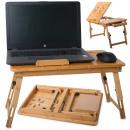 mayorista Material escolar: Mesa para portátil plegable con ventilación, bambú