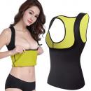 T-shirt fitness dimagrante in neoprene da donna