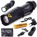 Lampe de poche tactique Bailong Cree Zoom Xm-L3-U3