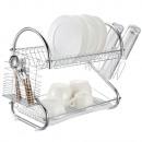 Un égouttoir à vaisselle à deux niveaux