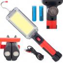 COB LED Workshop Torch Lamp 20w Rechargeable Batte