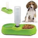 Double bol avec distributeur d'eau pour chien