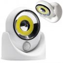 Éclairage LED COB 360 à piles avec détecteur de mo