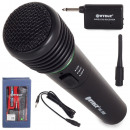 Microphone sans fil karaoké + station + cordon!