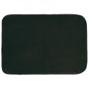 rectangle carpet, black 120 x 170 cm, velvet uni l