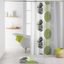 wholesale Household & Kitchen: shower curtain with hooks, 180 x 200 cm, poly