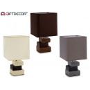 wholesale Lampes: lamp ceram 3 square blocks, 3 times assorted