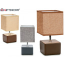 wholesale Lampes: ceramic square lamp, colors 3 times assorted