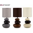 wholesale Lampes: Ceram stone round 3 floors lamp, 3 times surt