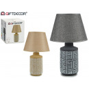 wholesale Home & Living: ceram abstract straight lamp, 2 times assorted