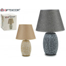 Keramik abstrakte Lampe gewölbt, 2 fach sortiert
